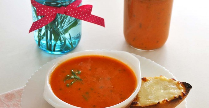 Tomato Basil Soup and Can-It-Forward Day