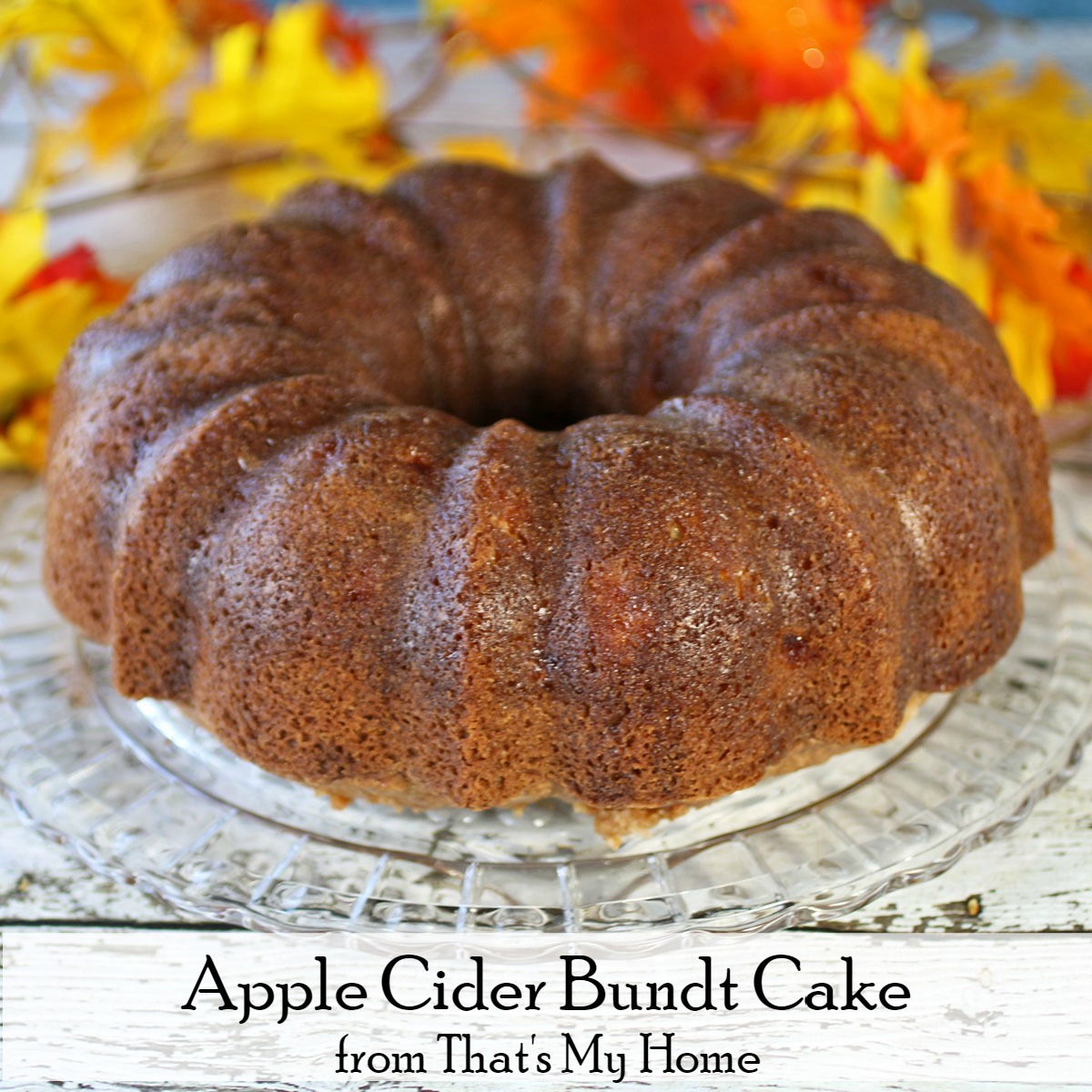 Apple Bundt Cake With Buttermilk Glaze