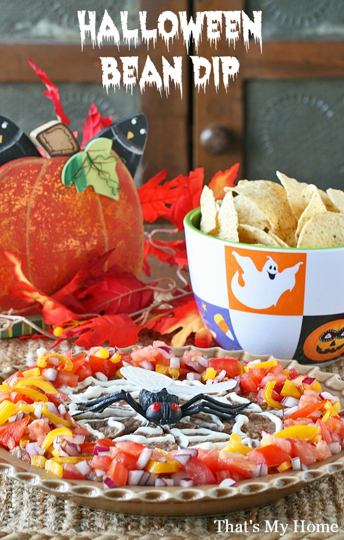 Halloween Bean Dip