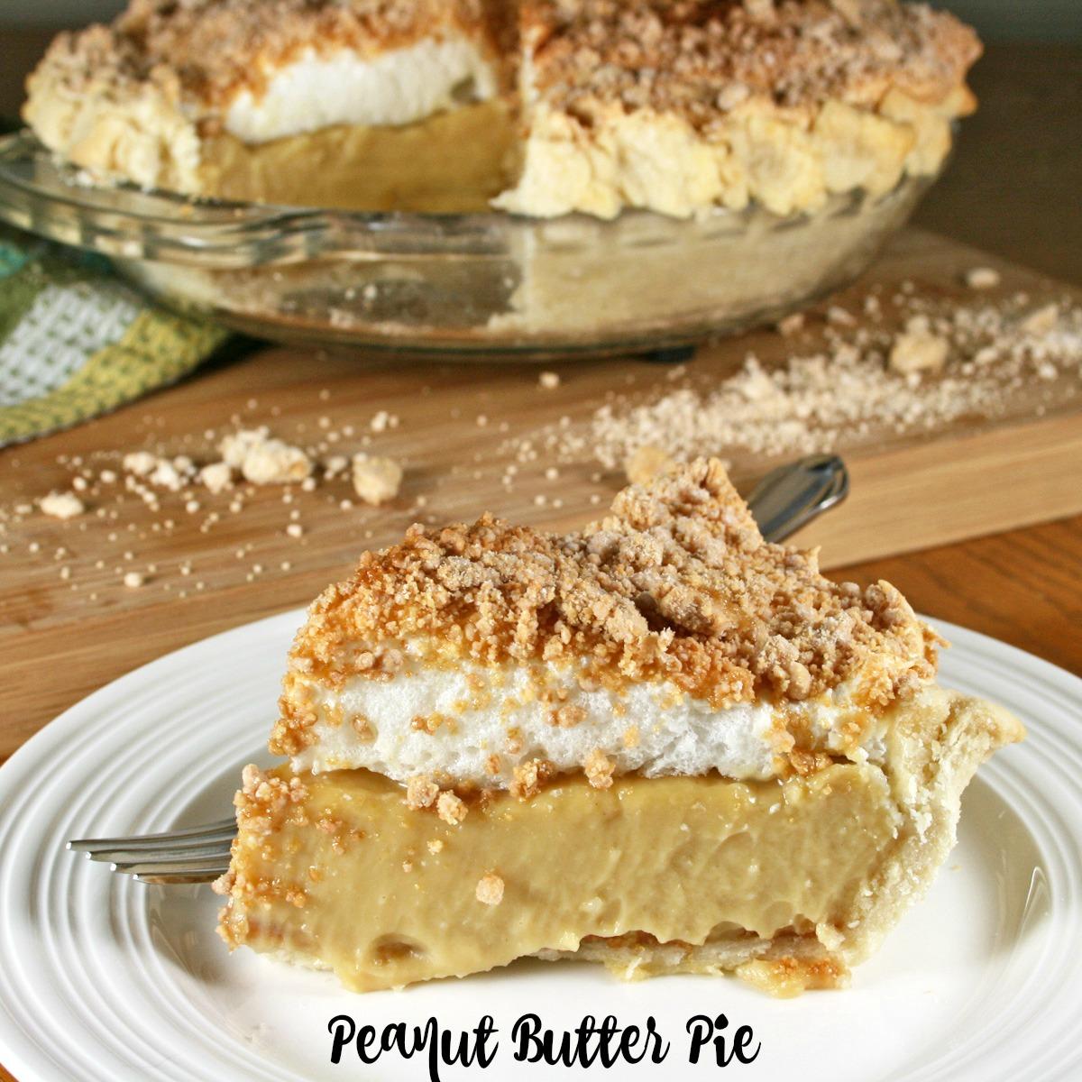 peanut butter pie baked