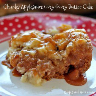 Chunky Applesauce Ooey Gooey Butter Cake