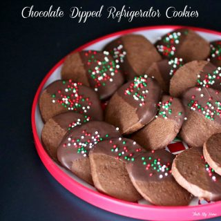 Chocolate Dipped Refrigerator Cookies