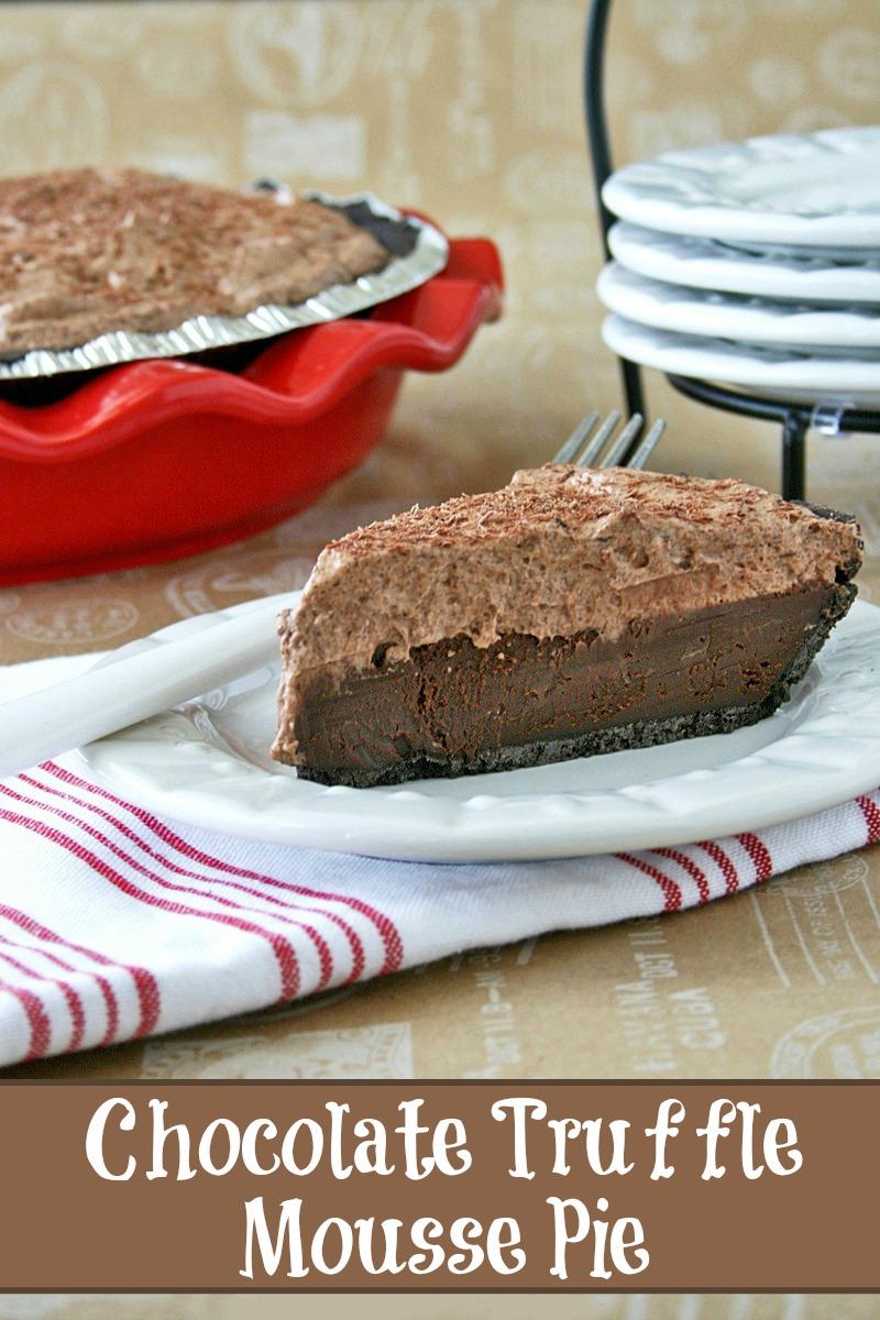 Chocolate Truffle Mousse Pie