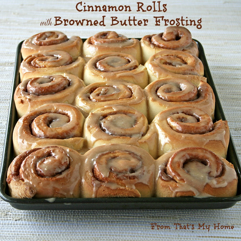 Cinnamon Rolls with Browned Butter Frosting