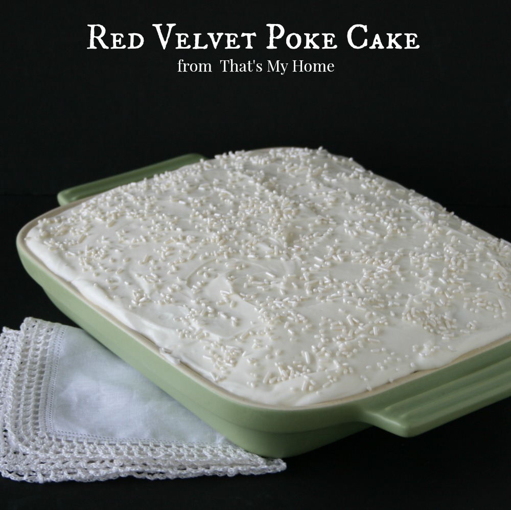 Red Velvet Poke Cake