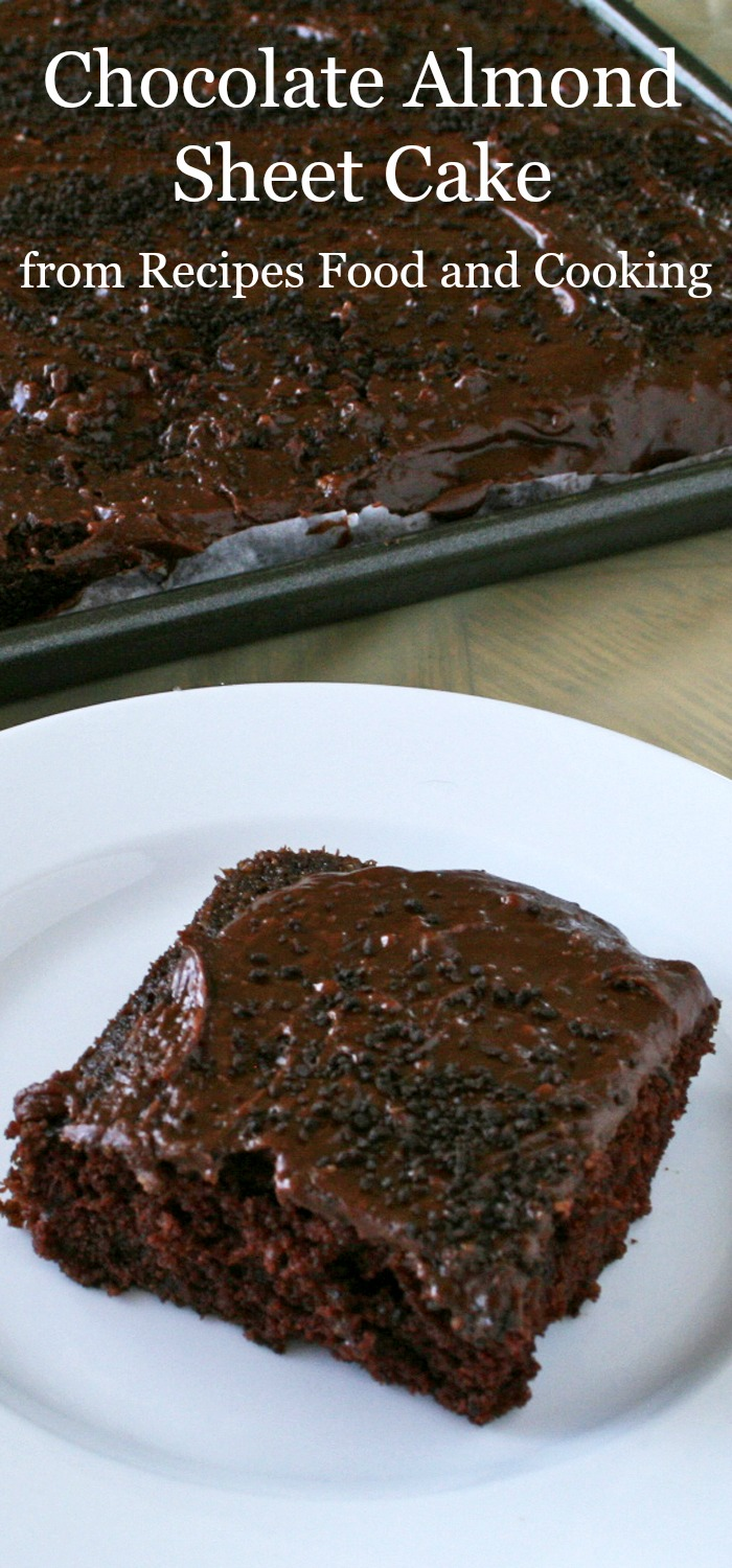 Chocolate Almond Sheet Cake