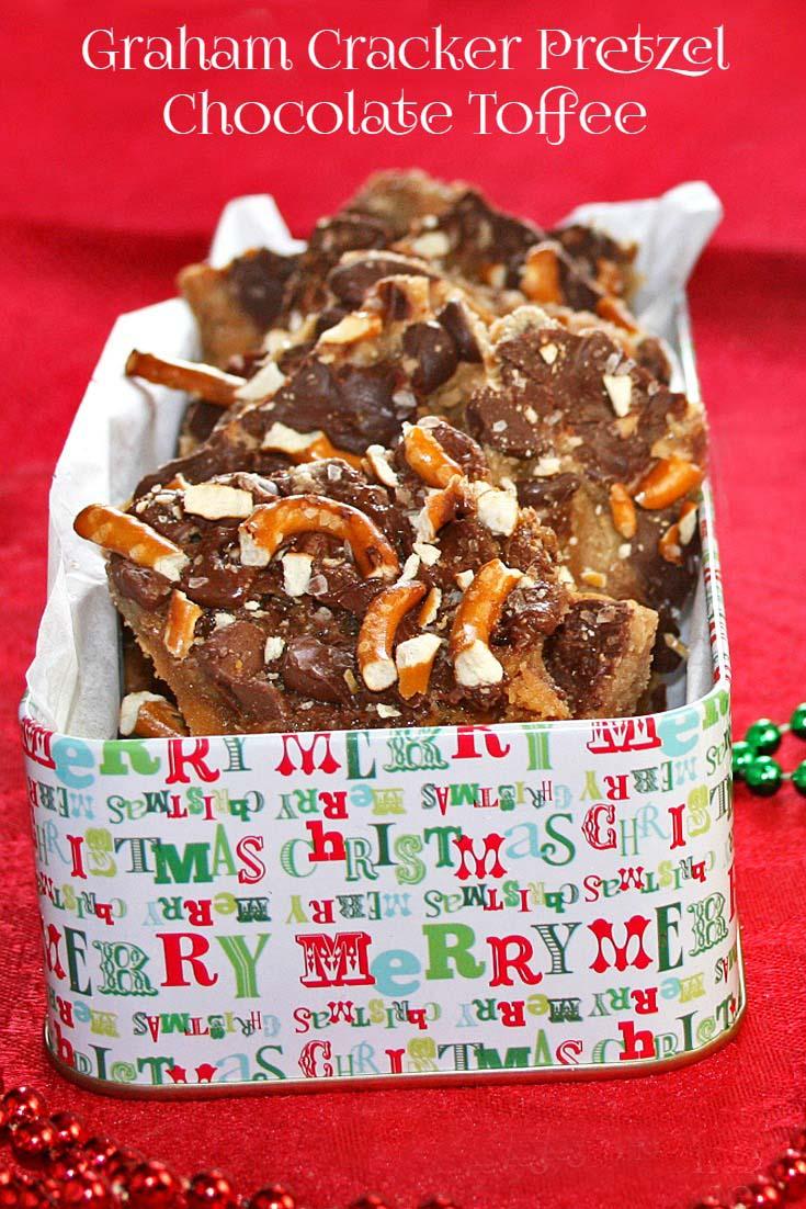 Graham Cracker Pretzel Chocolate Toffee