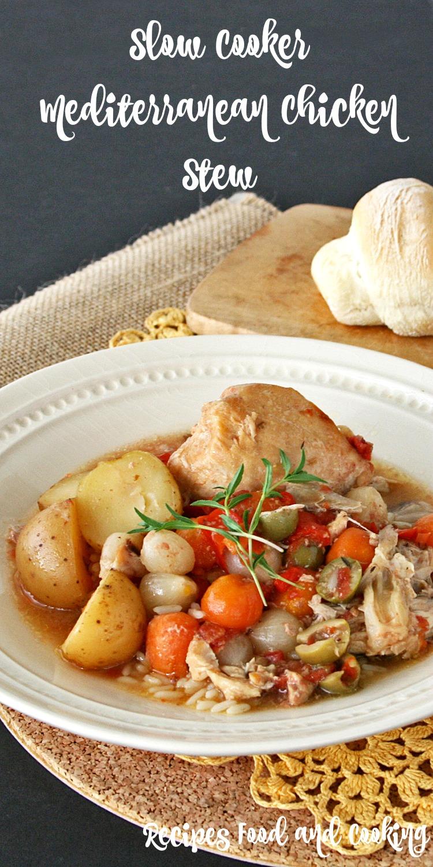 Slow Cooker Mediterranean Chicken Stew