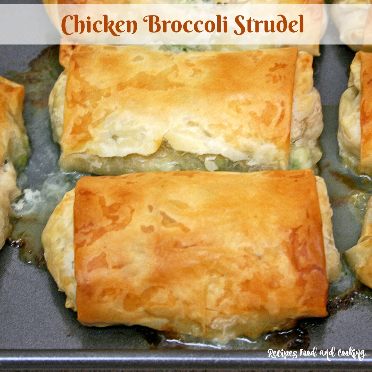 Chicken and Broccoli Strudel