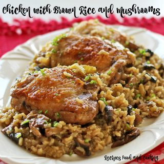 Chicken with Brown Rice and Mushrooms