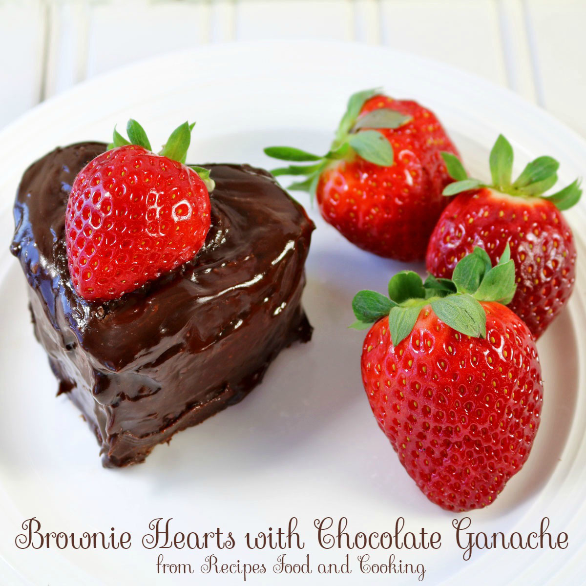 Chocolate Brownie Hearts with Ganache