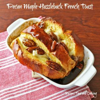 Pecan Maple Hassleback French Toast