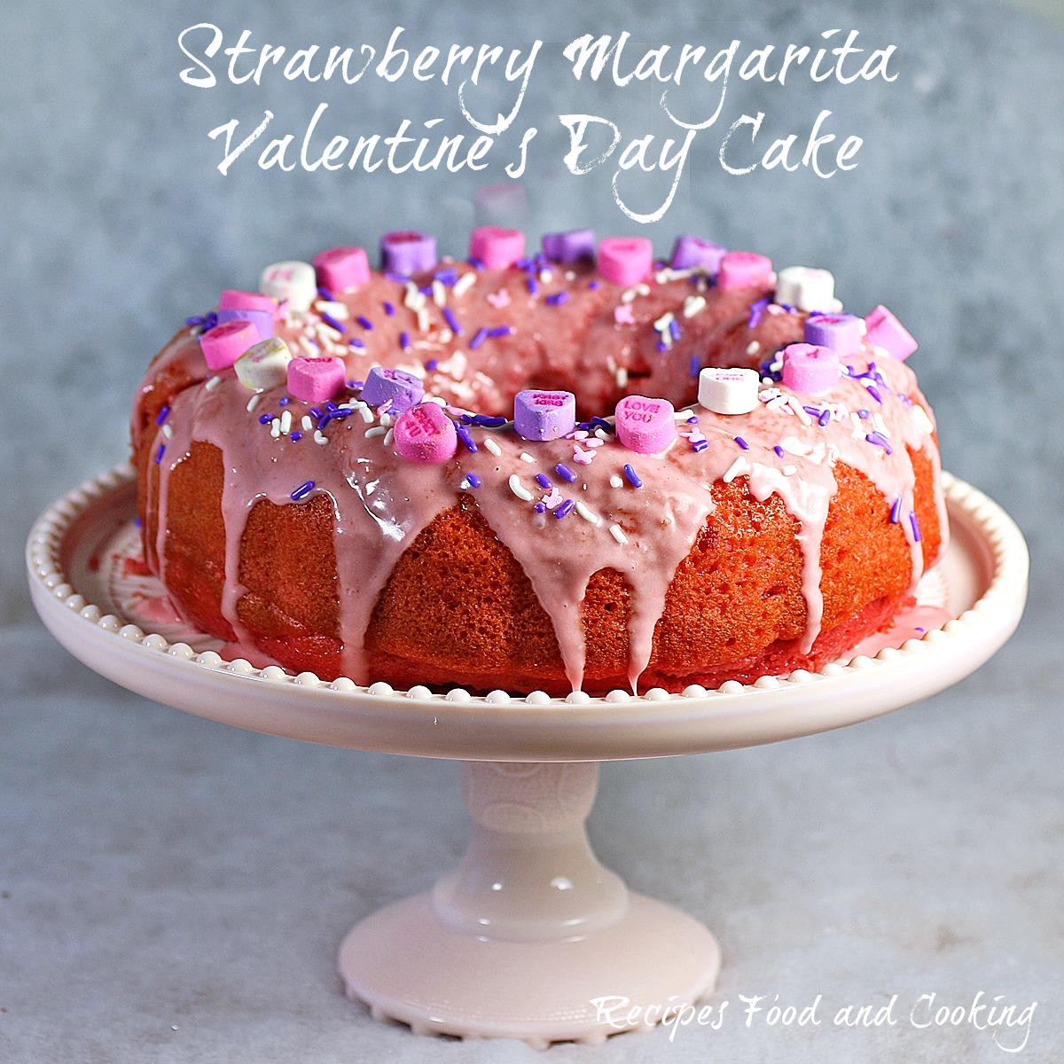 Strawberry Margarita Valentine's Day Cake