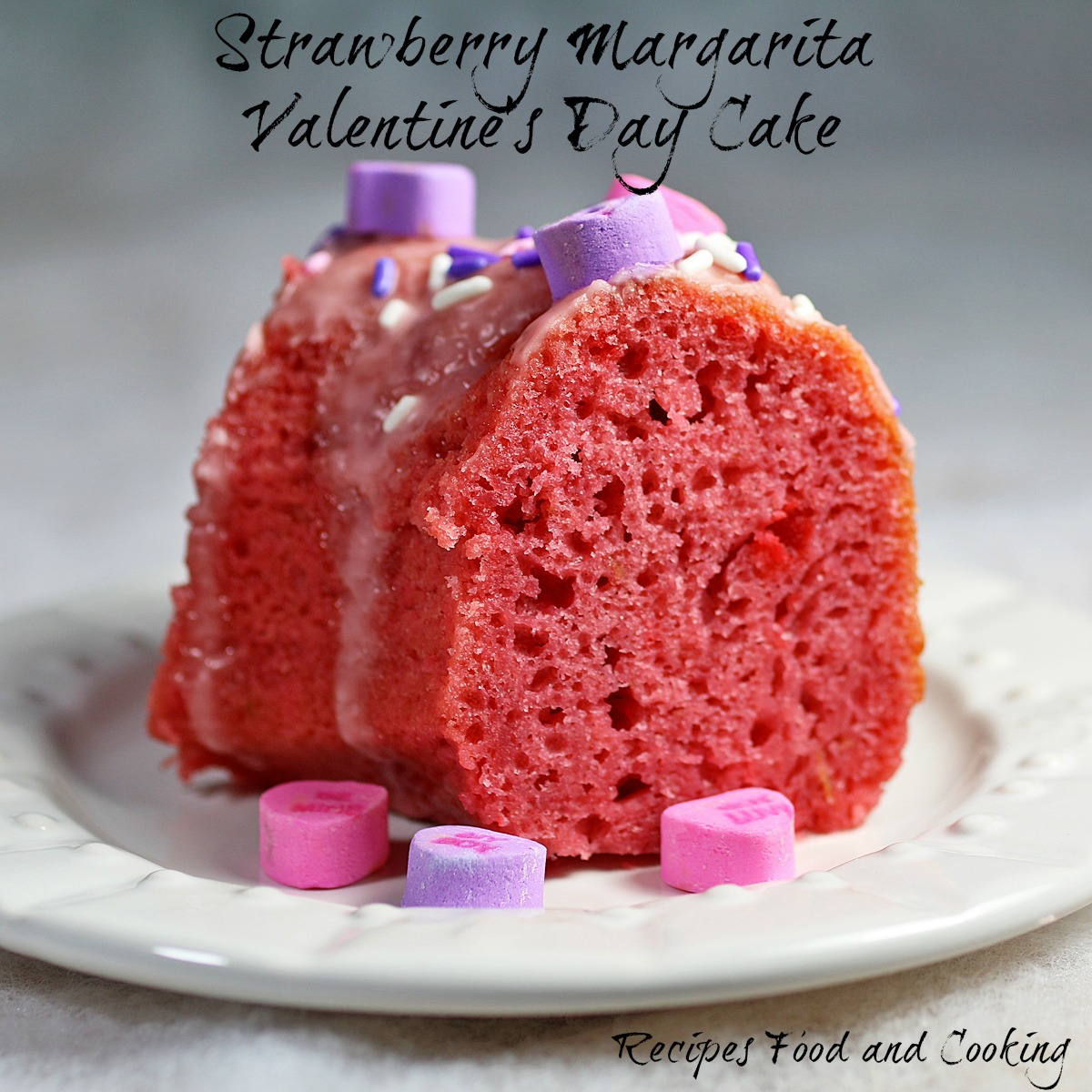 Strawberry Margarita Valentine's Day Cake