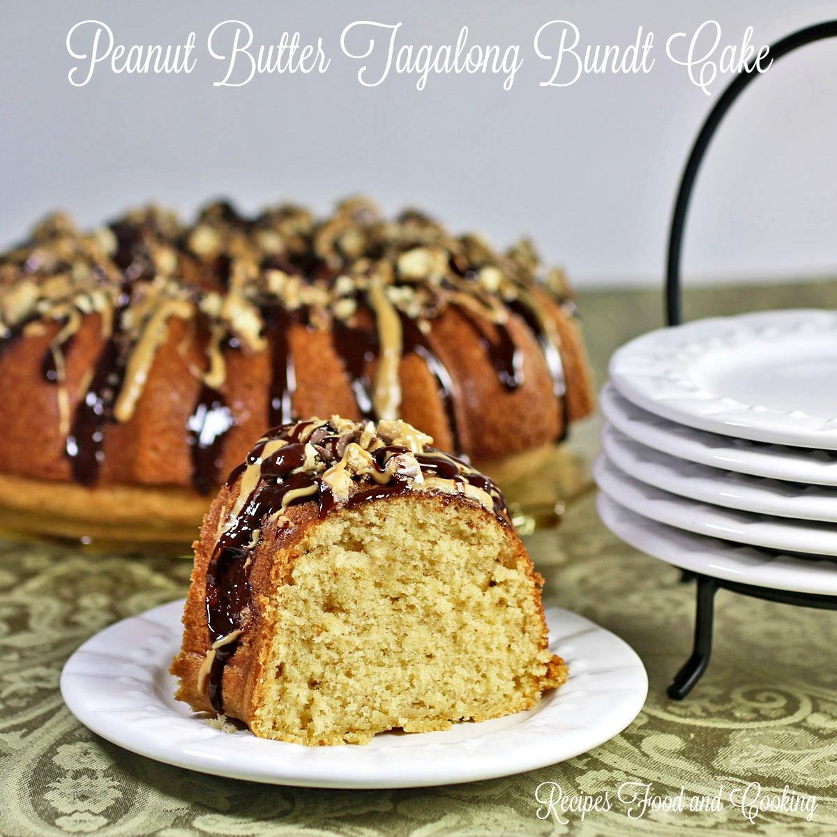 Peanut Butter Tagalong Bundt Cake