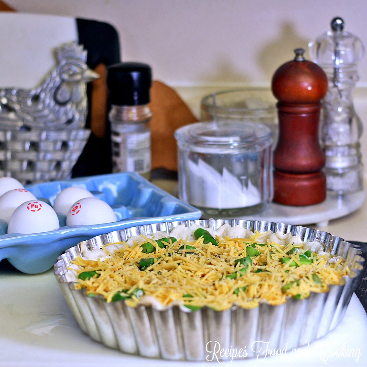 Sausage and Asparagus Quiche