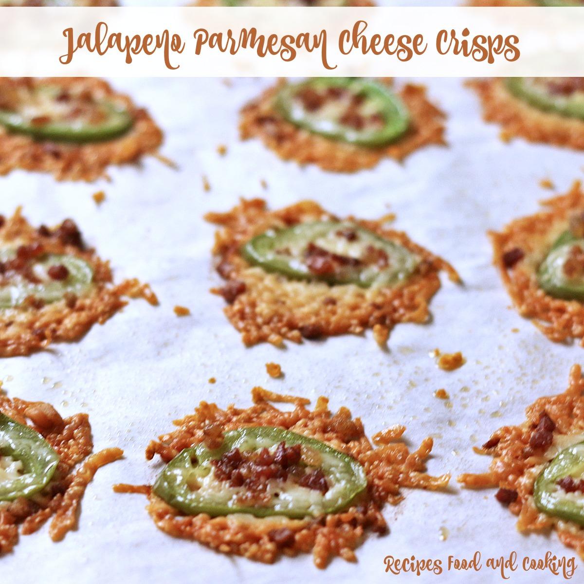 Jalapeno Parmesan Cheese Crisps
