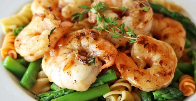 Lemon Garlic Shrimp and Asparagus Rotini Pasta #SundaySupper