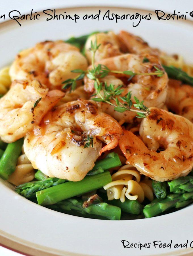 Lemon Garlic Shrimp and Asparagus Rotini Pasta