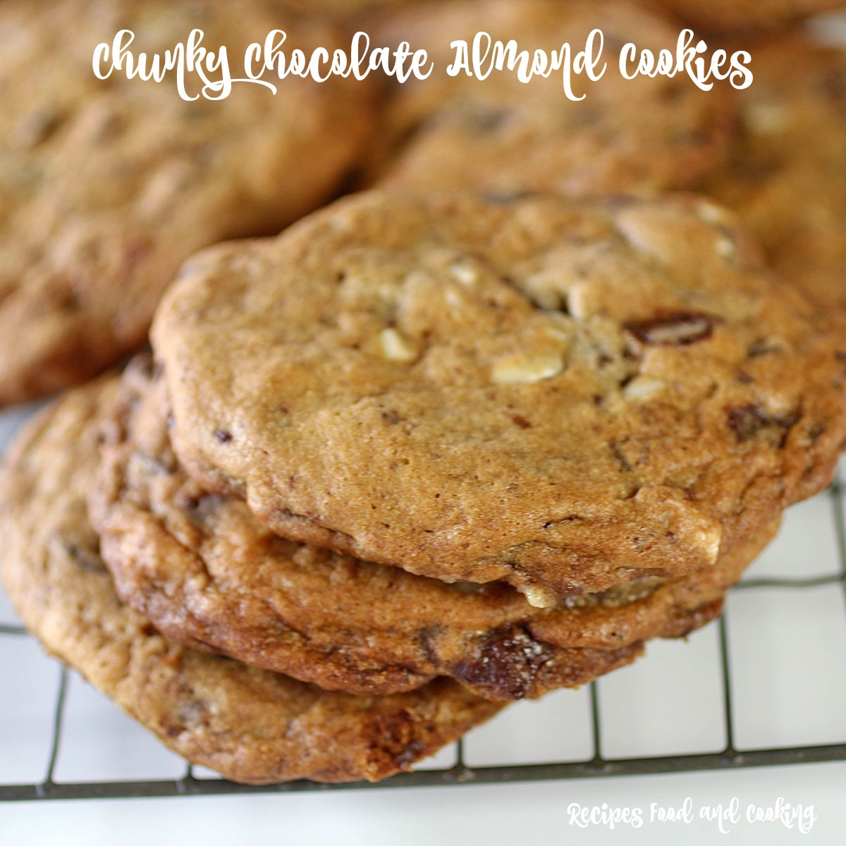 Chunky Chocolate Almond Cookies