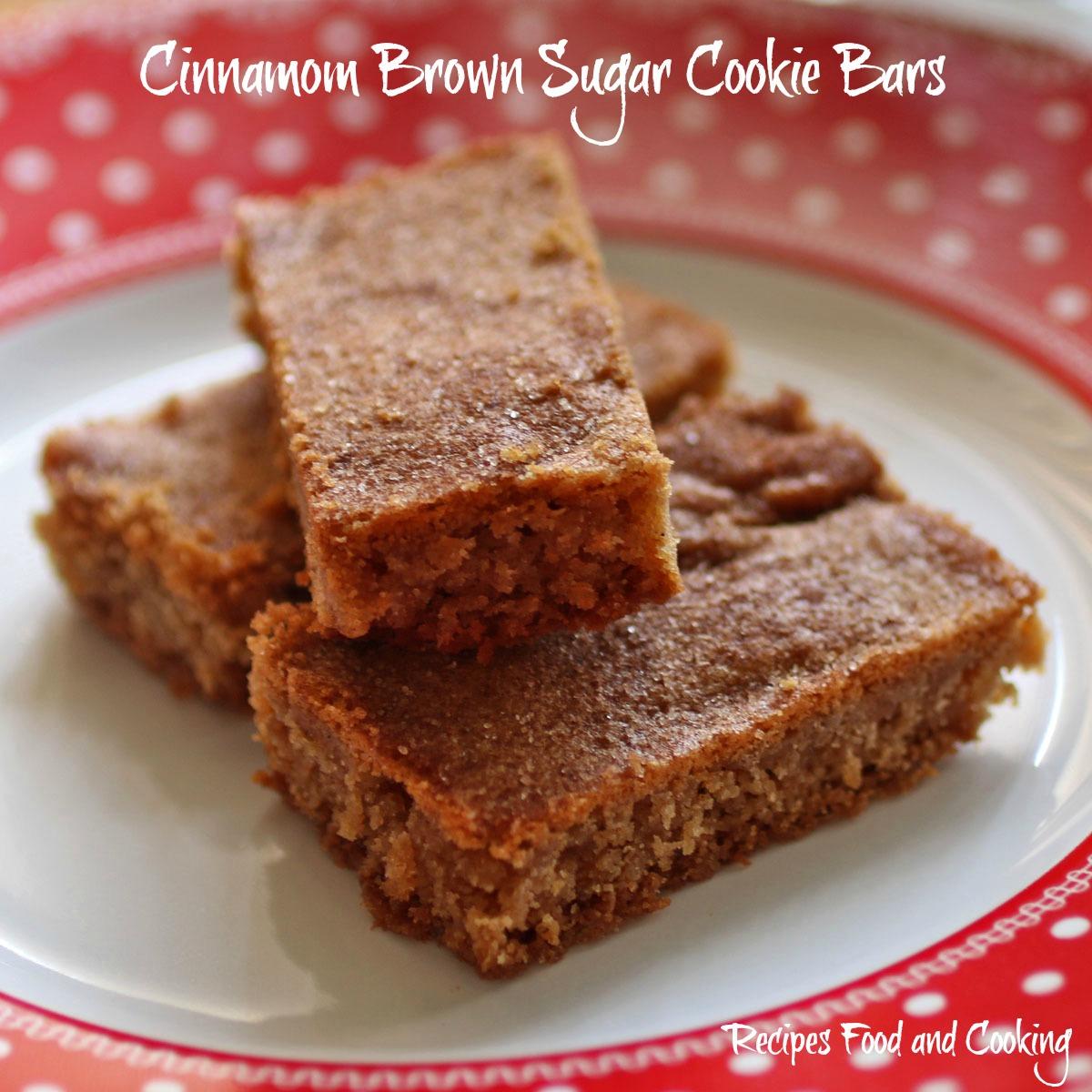 Cinnamon Brown Sugar Cookie Bars