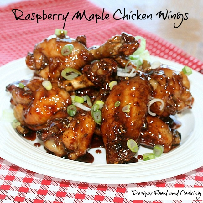 Raspberry Maple Chicken Wings