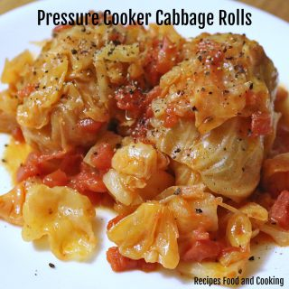 Pressure Cooker Cabbage Rolls