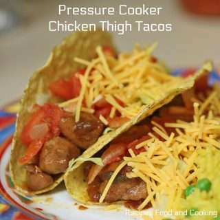 Pressure Cooker Chicken Thigh Tacos