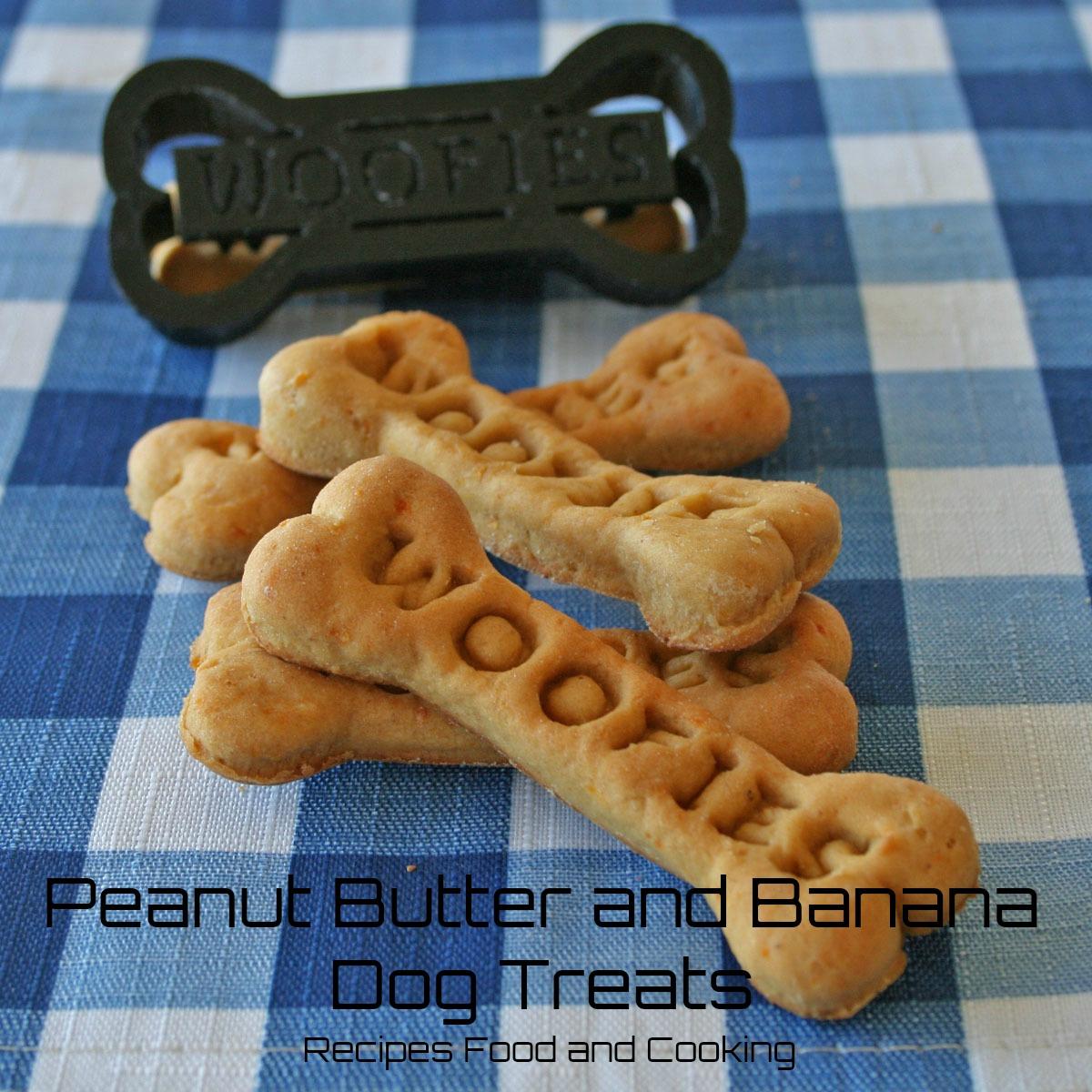 Peanut Butter and Banana Dog Treats
