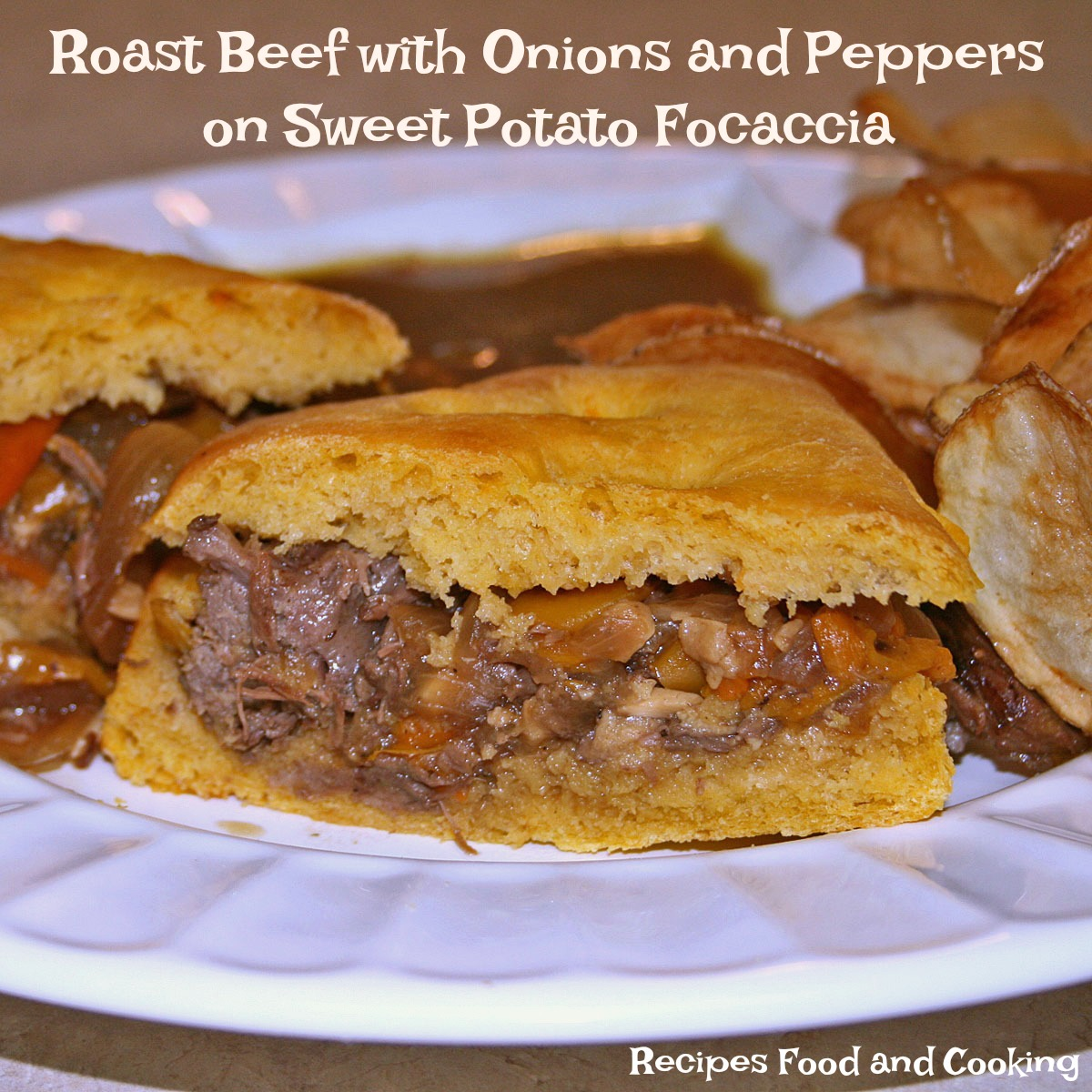 Roast Beef with Onions and Peppers