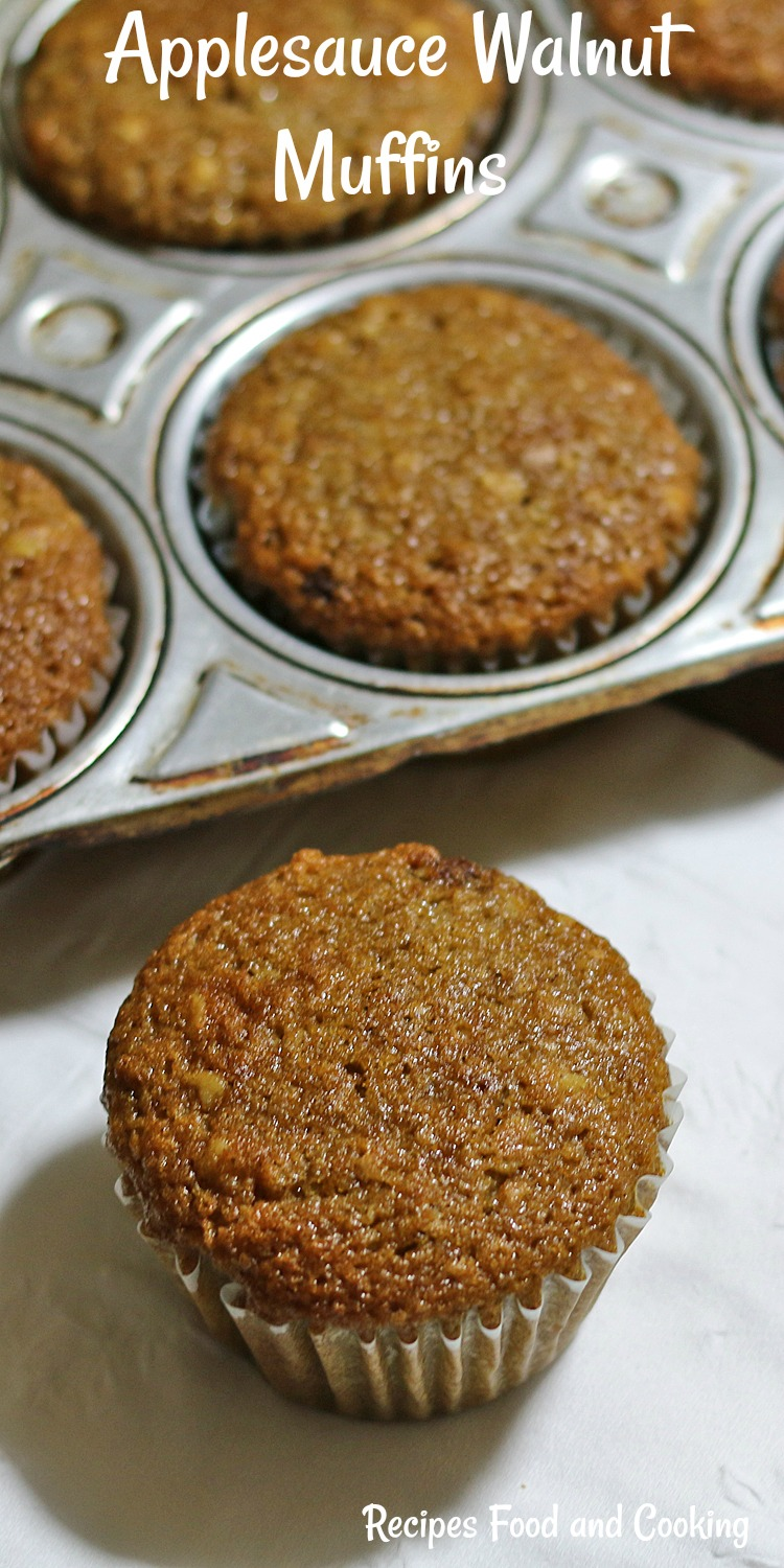 Applesauce Walnut Muffins