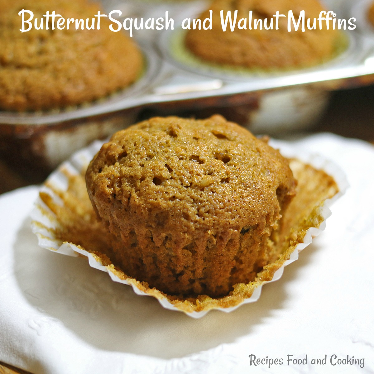 Butternut Squash and Walnut Muffins