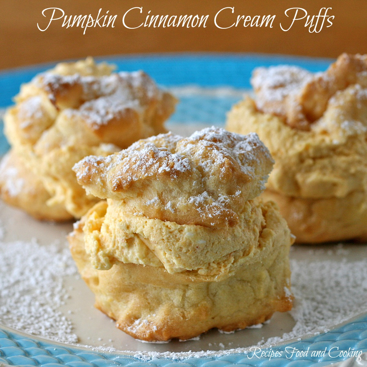 Pumpkin Cinnamon Cream Puffs