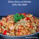 Chicken, Chorizo and Artichoke Saffron Rice Skillet