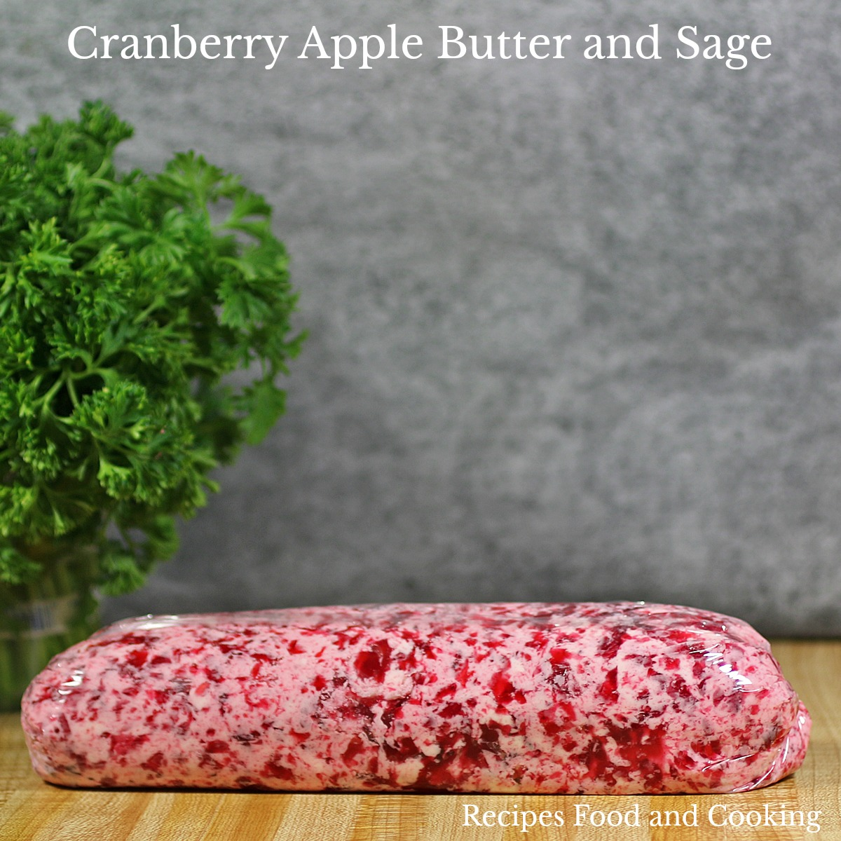 Pork Tenderloin with Cranberry Apple Butter and Sage