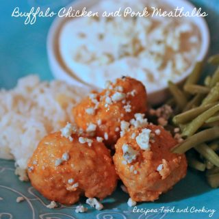 Buffalo Chicken and Pork Meatballs