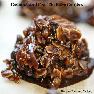 Coconut and Fruit No Bake Cookies