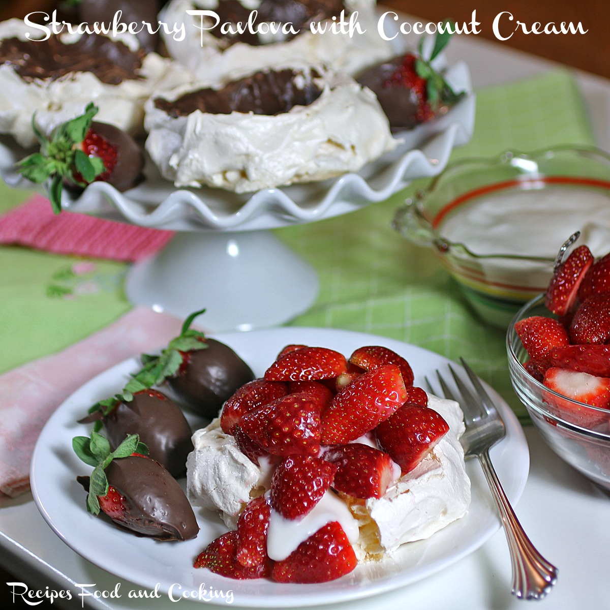 Strawberry Pavlova with Coconut Cream