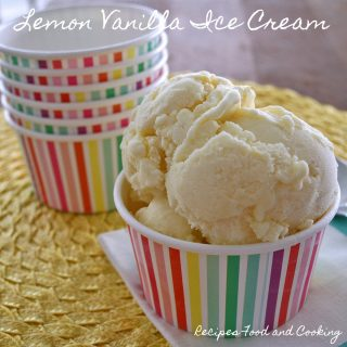Lemon Vanilla Ice Cream