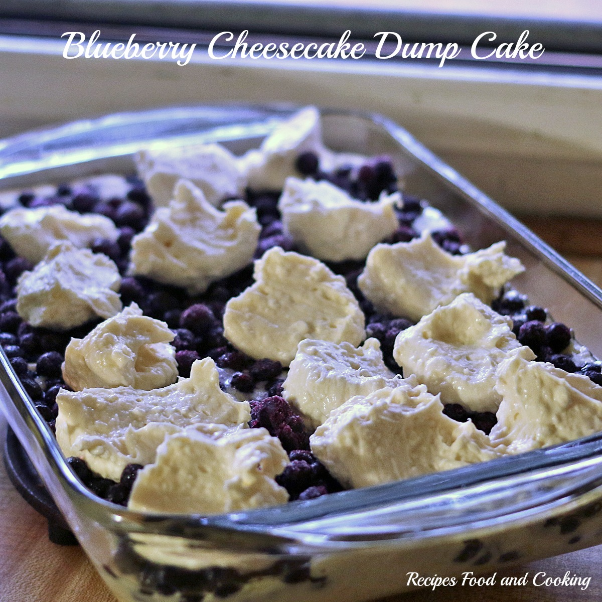 Blueberry Cheesecake Dump Cake