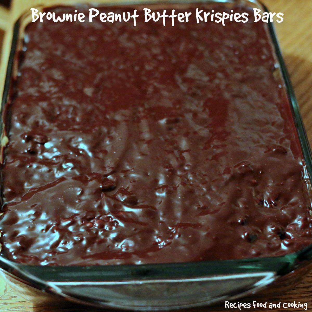 Brownie Peanut Butter Krispies Bars