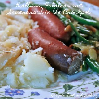 Kielbasa, Potatoes and Sauerkraut in the Crockpot