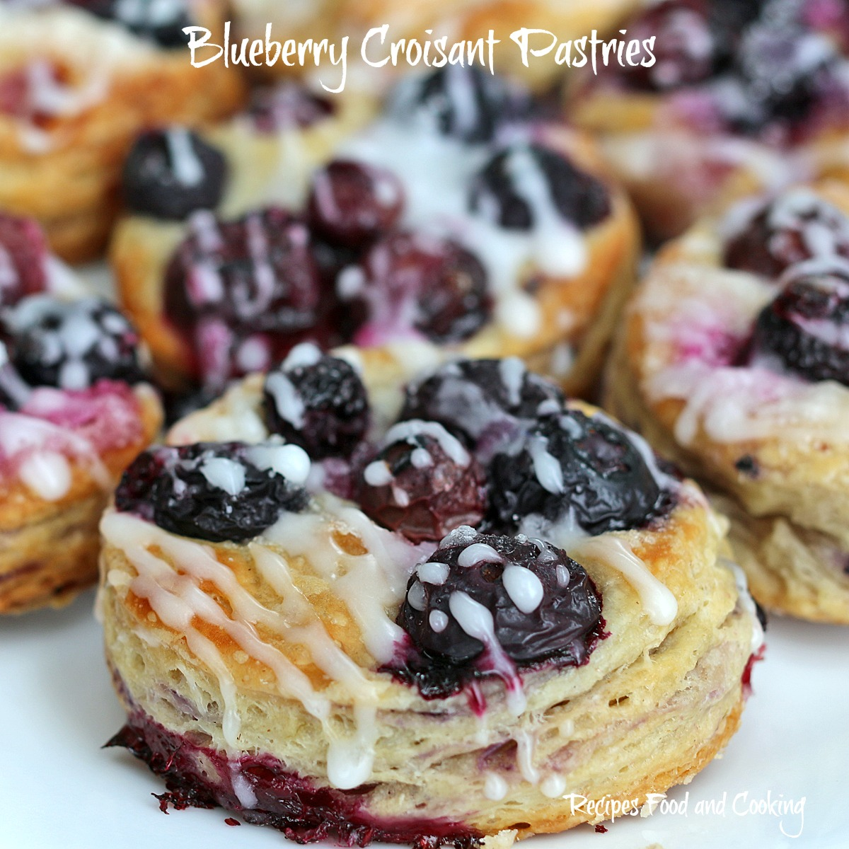 Blueberry and White Chocolate Croissants