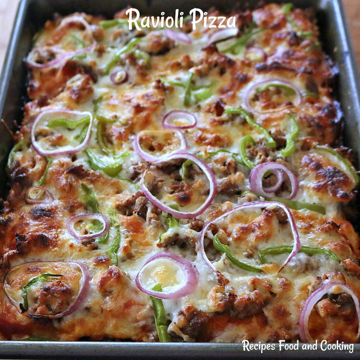 Ravioli Pizza