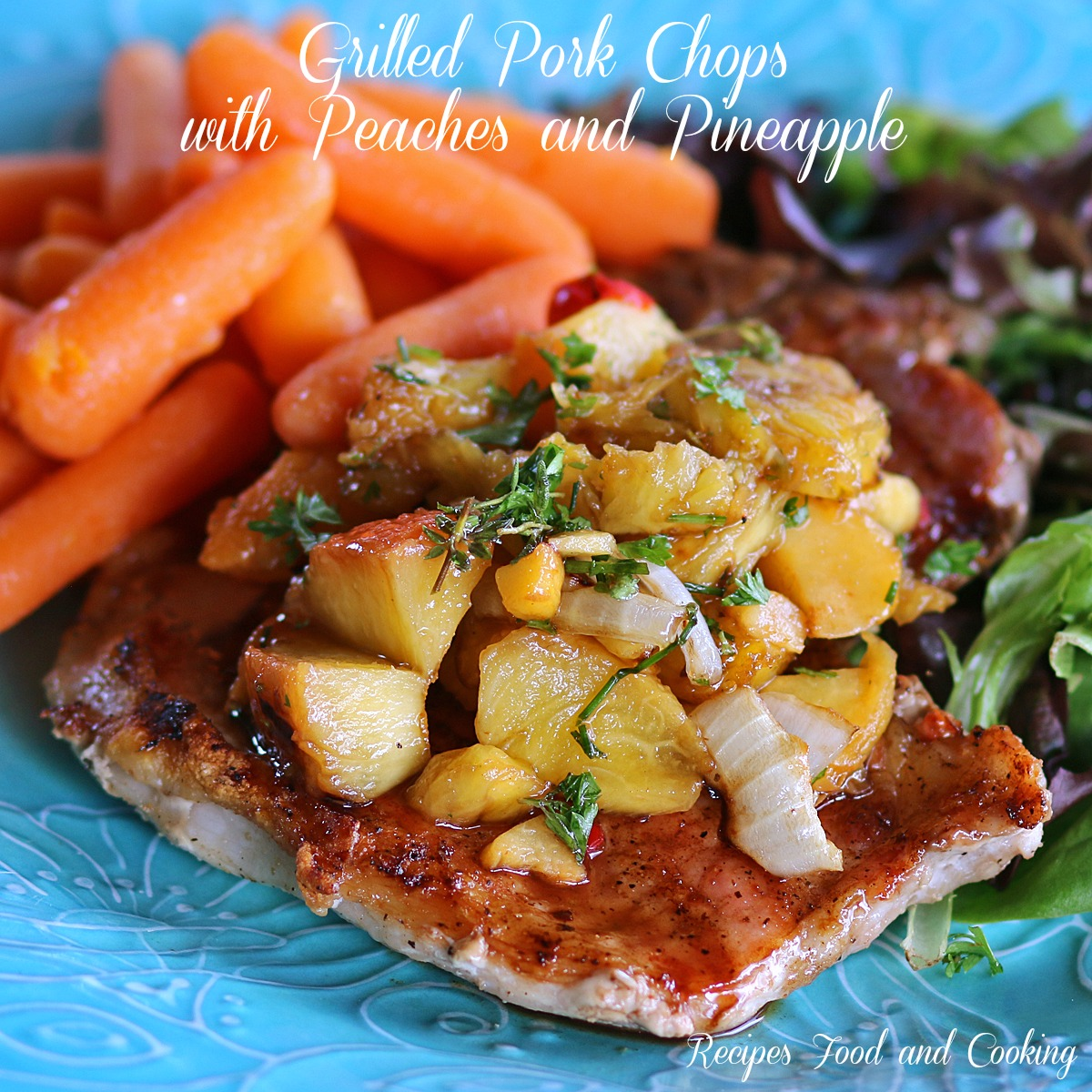 Grilled Pork Chops Glazed with Honey and Balsamic Vinegar