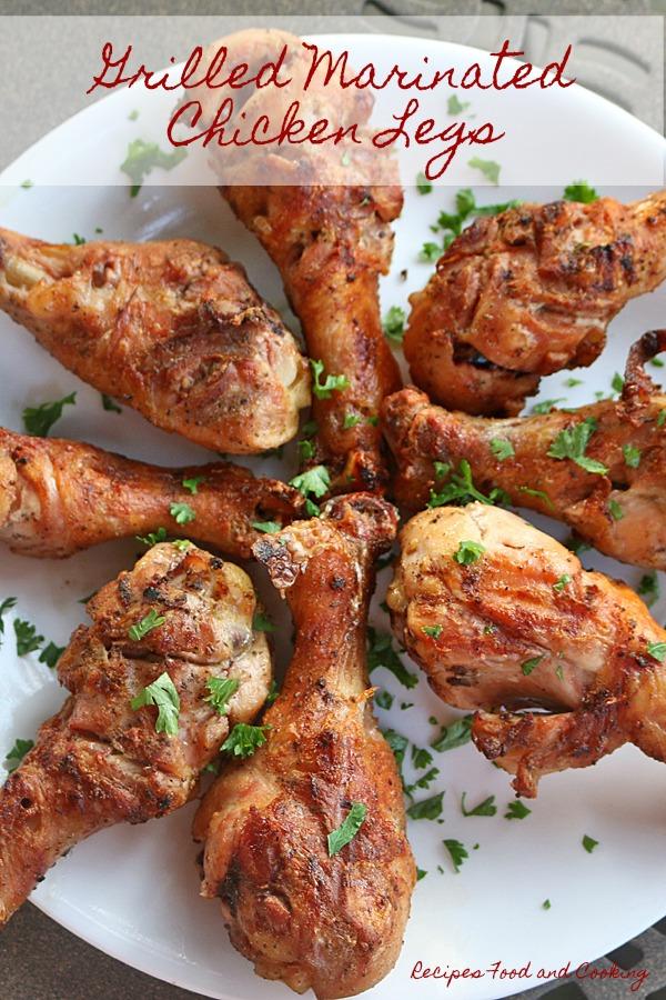 Kamado Grill Marinated Chicken Legs