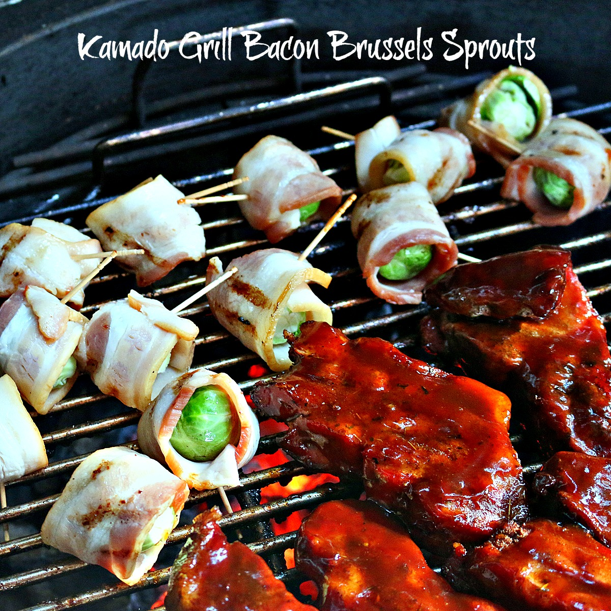 Kamado Grill Bacon Brussels Sprouts