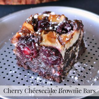 Cherry Cheesecake Brownie Bars