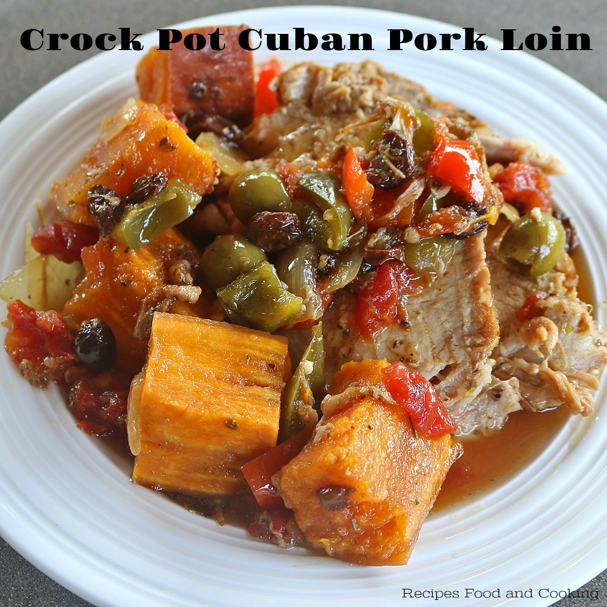Crock Pot Cuban Pork Loin