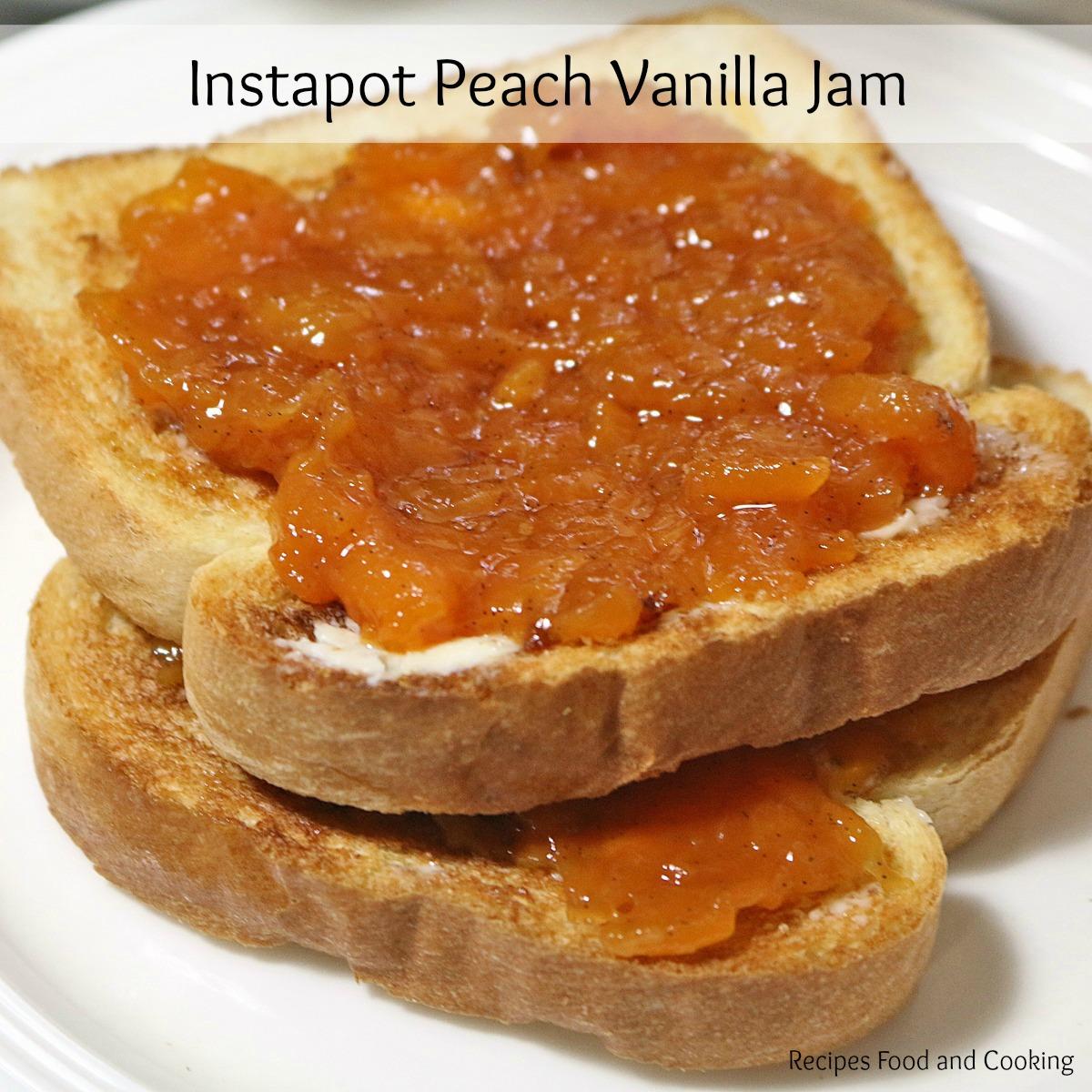 Instapot Peach Vanilla Jam